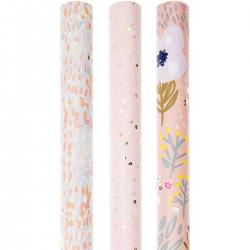 rico design geschenkpapiere rosa blumen mix bluemchen gold pink puenktchen konfetti wunderschoen-gemacht