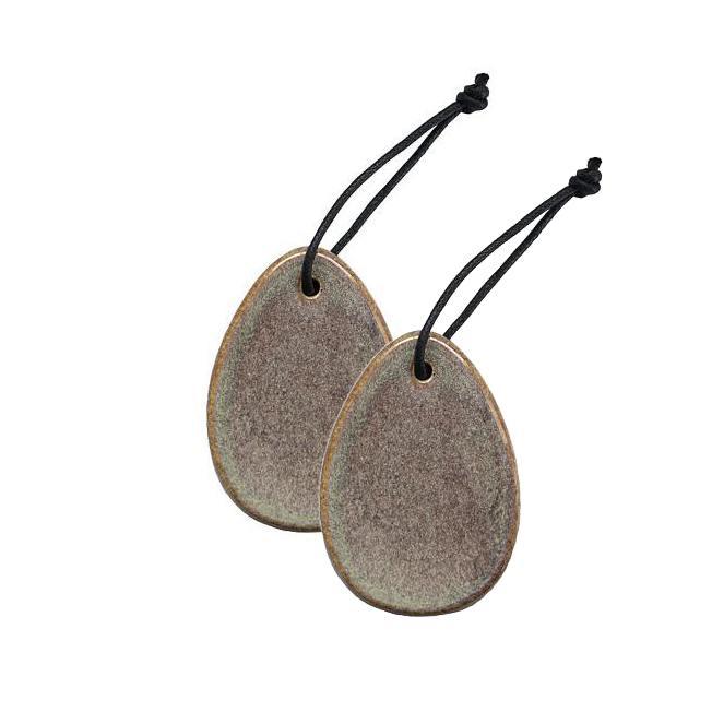 dbkd deko haenge osterei keramik multi sand grau wunderschoen-gemacht