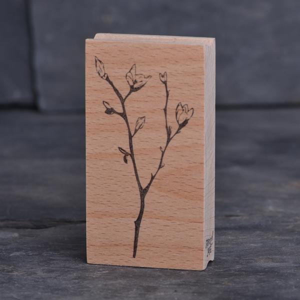 stempel jazz magnolienzweige magnolienblueten wunderschoen-gemacht