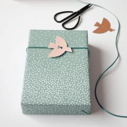 jurianne matter bird gift tags vogel voegel anhaenger rosa nude wunderschoen-gemacht