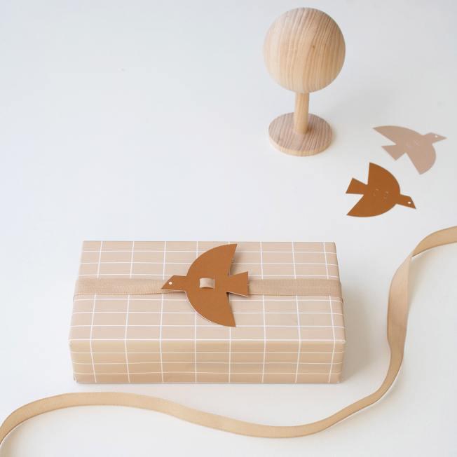 jurianne matter geschenkanhaenger bird braun papiervogel papiervoegel wunderschoen-gemacht