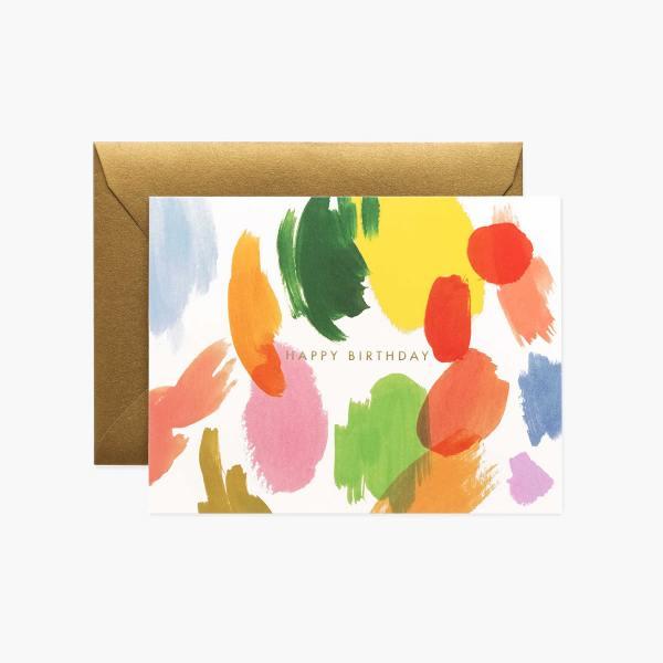 rifle paper co happy birthday palette bunte farbleckse wunderschoen-gemacht