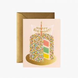 rifle paper co layer happy birthday cake pastellfarben wunderschoen-gemacht