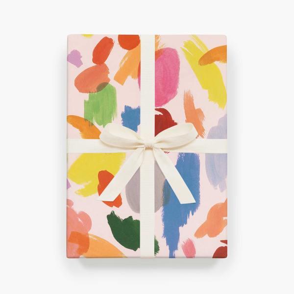 rifle paper co geschenkpapiere palette farbkleckse bunte wunderschoen-gemacht