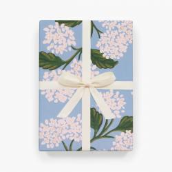 rifle paper co geschenkpapiere hydrangea weisse hortensienblueten hellblaue  wunderschoen-gemacht