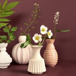 "dottir design Minivasen Set ""Samsurium Minibell"" coral rosa wunderschoen-gemacht"