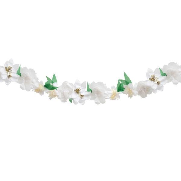 meri meri papierbluetengirlande white blossom garland wunderschoen-gemacht