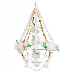 meri meri white blossom chandelier papierblüten papierblumen leuchter pajaki wunderschoen-gemacht