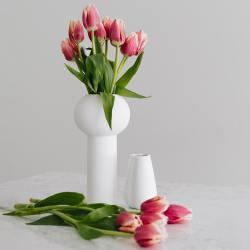 cooee design weisse skulptur keramikvasen pillar wunderschoen-gemacht