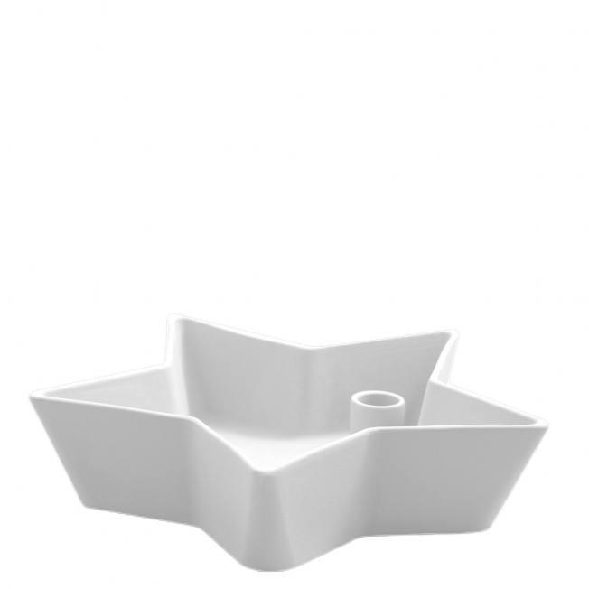 storefactory kerzenleuchter stern keramikschale stjaerna medium weiss wunderschoen-gemacht