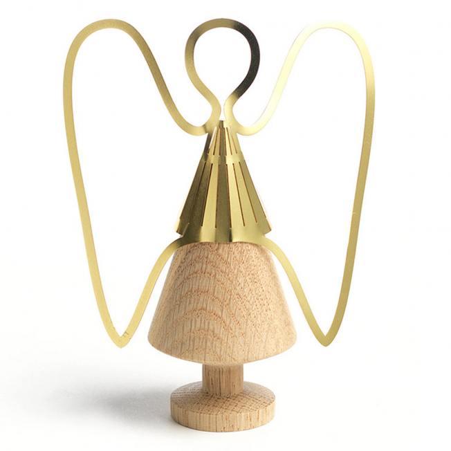 the oak men  gold messing engel aufsatz fuer holzbaum wunderschoen-gemacht
