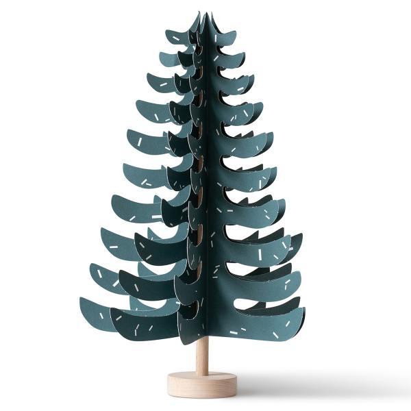 Jurianne Matter bastelset papierbaum mit holz dunkelgruen fir fichten wunderschoen-gemacht
