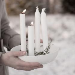 storefactory kerzenleuchter adventskranz adventsschale granholmen weiss wunderschoen-gemacht