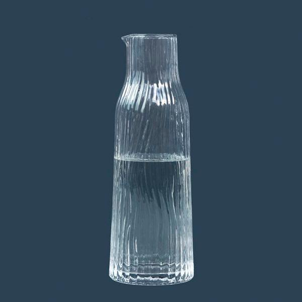 kinta glaskaraffe glasrug amnis klarglas wellenmuster wunderschoen-gemacht