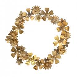 bungalow dk golden floral wreath goldener blumen und blaetterkranz wunderschoen-gemacht
