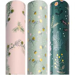 rico design paper poetry geschenkpapier eicheln gold rosa gruen wunderschoen-gemacht