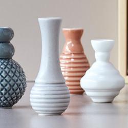 "dottir design Minivasen Set ""Samsurium Minibell"" blue blau wunderschoen-gemacht"