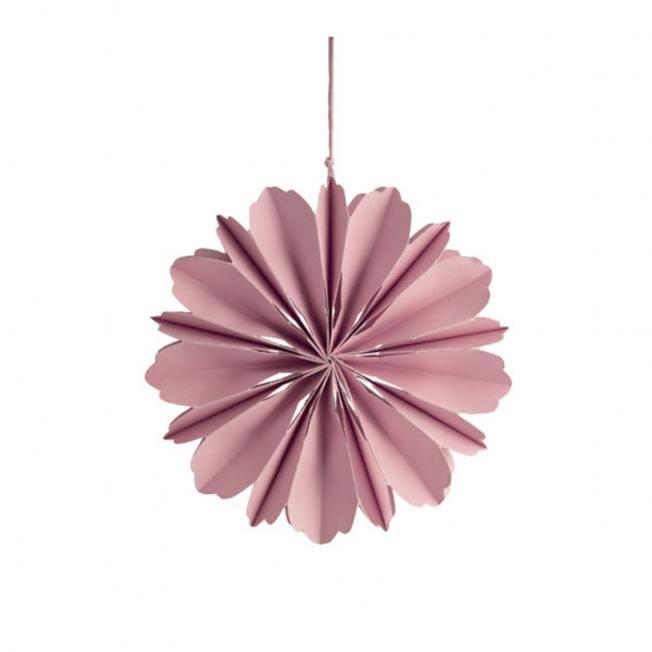 storefactory hänge papierblumen blueten blomholmen pinke wunderschoen-gemacht