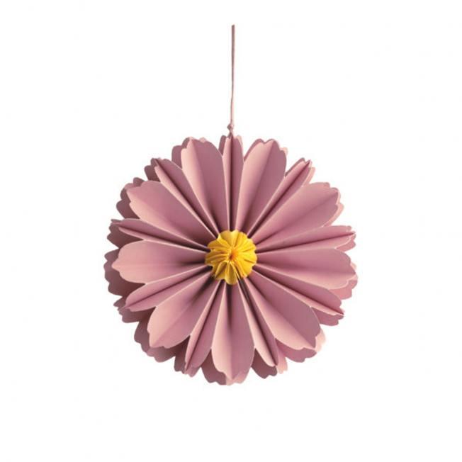storefactory hänge papierblumen blueten blomholmen pinke rosa wunderschoen-gemacht