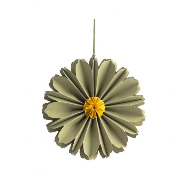 storefactory hänge papierblumen blueten blomholmen gruene gelbe wunderschoen-gemacht