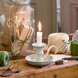 Strömshaga Kerzenstaender Kerzenleuchter, Kerzenstaender Gunnar antik weisser wunderschoen-gemacht
