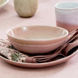 bungalow dk keramikschalen cereal müslischalen jazzy powder farbverlauf rosa nude wunderschoen-gemacht
