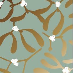 jurianne matter geschenkpapier mistletoe greengold wunderschoen-gemacht