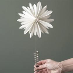 dbkd christbaumspitzen flower blume stern weiss wunderschoen-gemacht