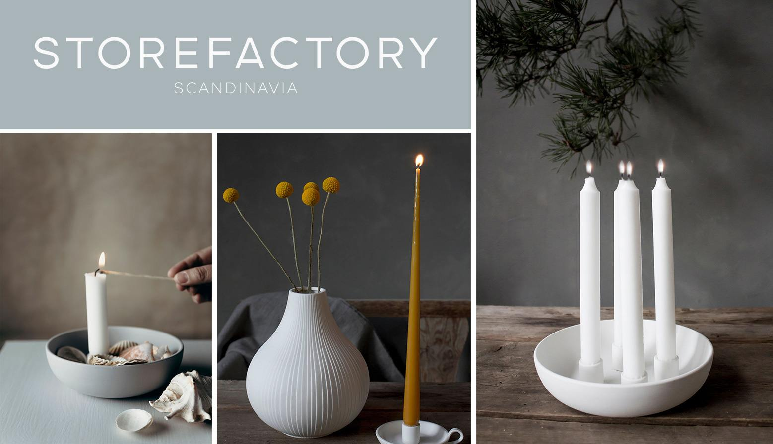 storefactory skandinavisches design vasen kerzenleuchter im wunderschoen-gemacht shop