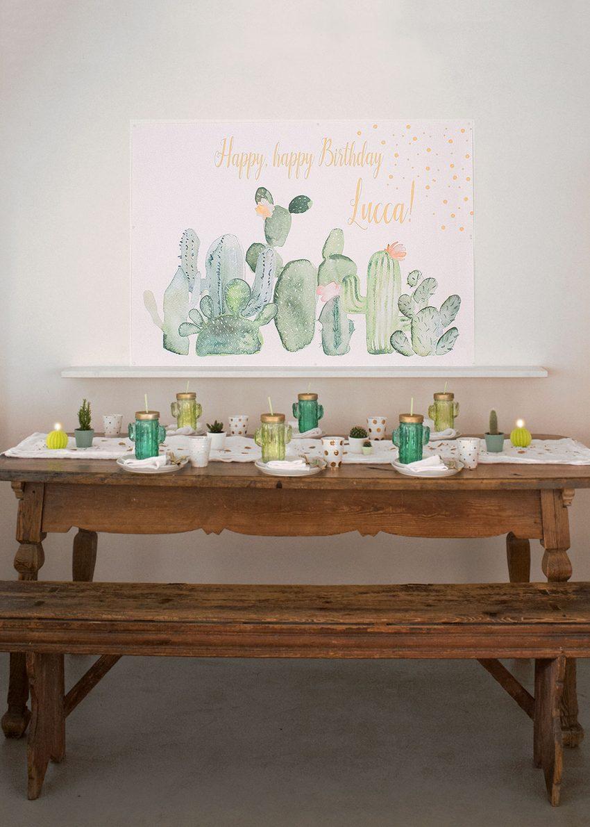kaktus-kakteeen dekoration party-tisch-wunderschoen-gemacht