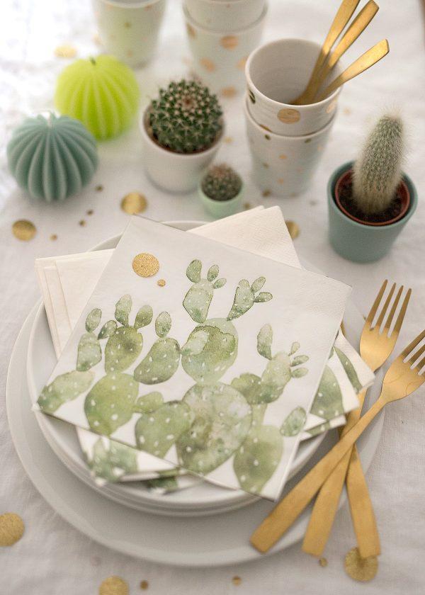 kaktus-kakteen servietten-wunderschoen-gemacht