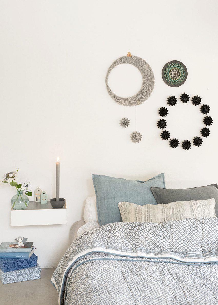 schlafzimmer deko mondmobile sternenkranz wunderschoen-gemacht