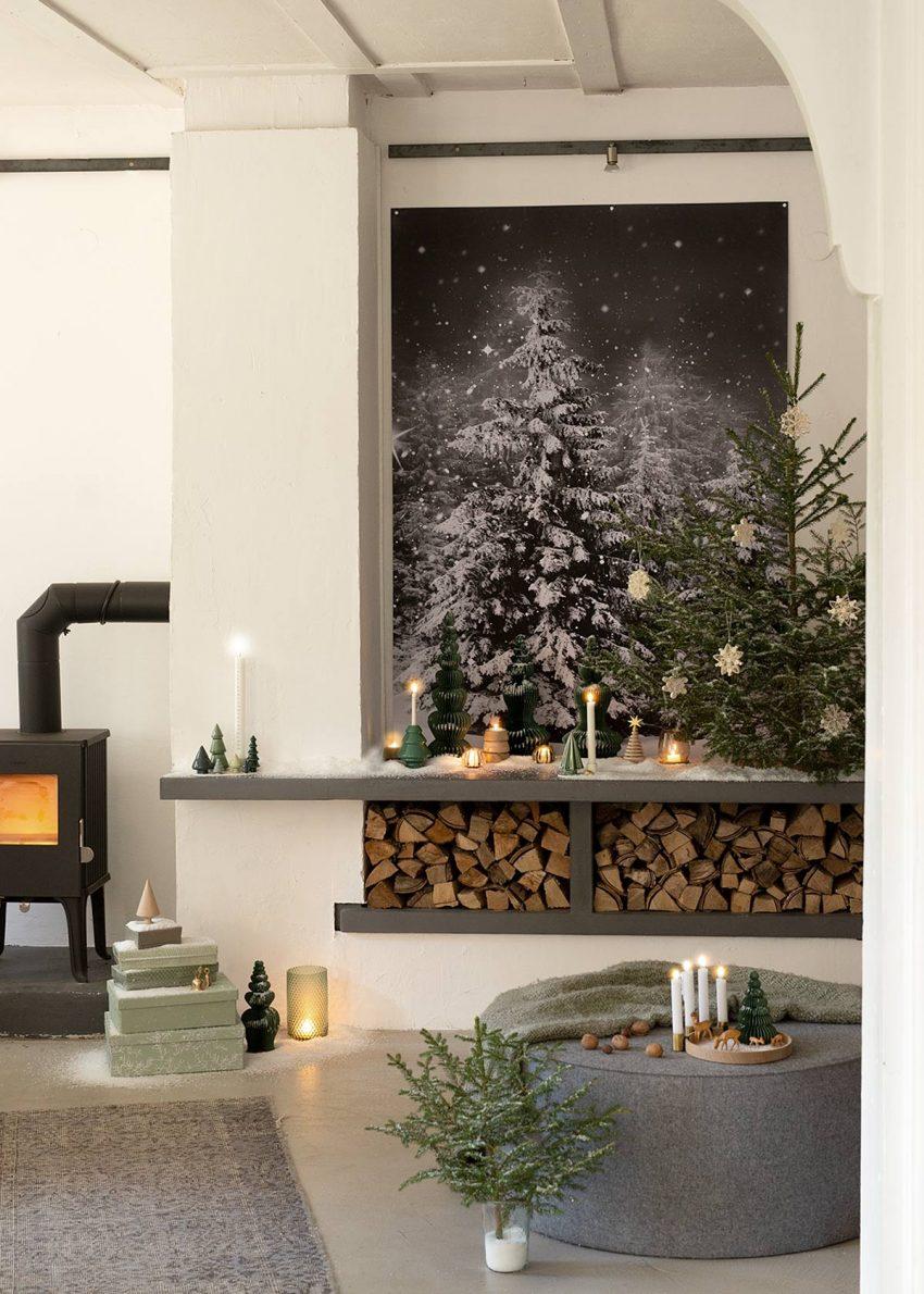 Weihnachtsdeko-winterwonderland weihnachtswald-wunderschoen-gemacht