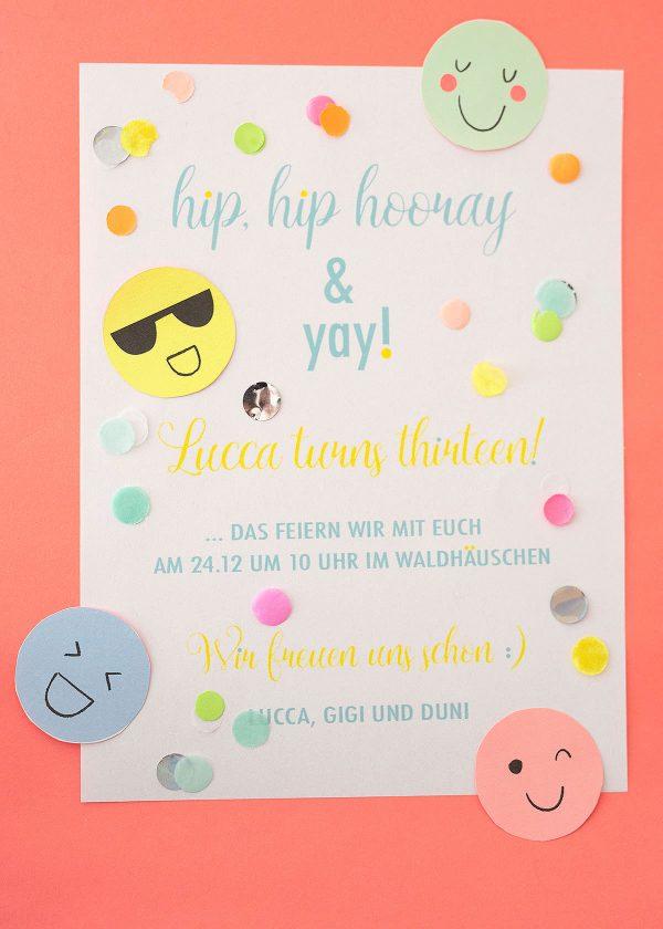 neon-pastell-teenager-geburtstagseinladungen-emojis-smileys-wunderschoen-gemacht