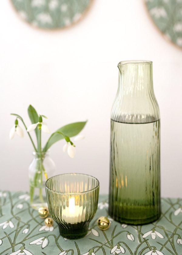 kinta-glas-wellen-riffel-gruene-karaffe-krug-glas-glaeser-wunderschoen-gemacht